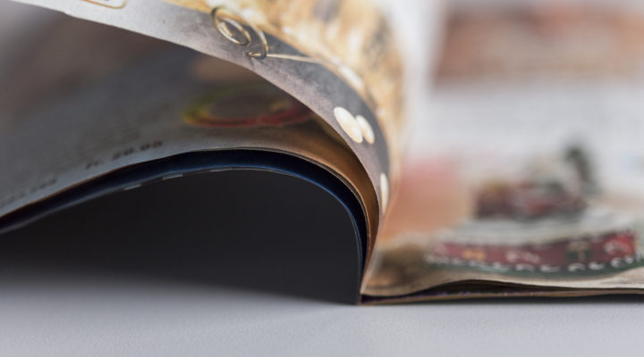 Dünndruckbroschüren für den Versandhandel